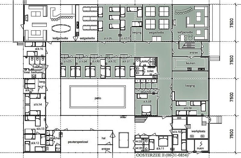 Grundrisse von der Gruppenunterkunft 00310854 Gruppenhaus HET WATER II in Dänemark 8536 VD Oosterzee für Jugendfreizeiten