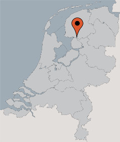 Karte von der Gruppenunterkunft 00310854 Gruppenhaus HET WATER II in Dänemark 8536 VD Oosterzee für Kinderfreizeiten