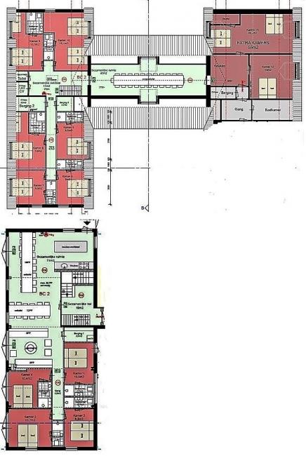 Grundrisse von der Gruppenunterkunft 00310599 Gruppenhaus Maashoeve in Dänemark 5995 Kessel für Jugendfreizeiten