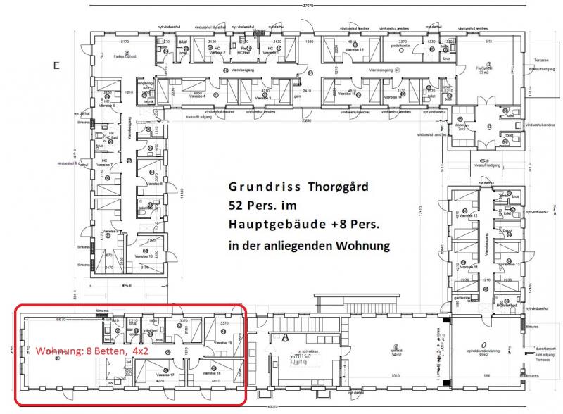 Grundrisse von der Gruppenunterkunft 03453819 KLK-Gruppenhaus - Thorøgaard in Dänemark 5610 Assens für Jugendfreizeiten