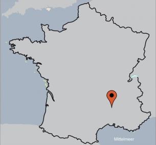 Karte von der Gruppenunterkunft 00339101 ZEBU-Dorf Frankreich Ardèche  in Dänemark 07150 Salvadas für Kinderfreizeiten