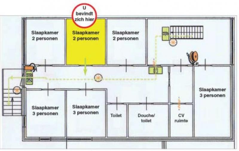 Grundrisse von der Gruppenunterkunft 00310799 Gruppenhaus DRENTHE in Dänemark 7991 Dwingeloo für Jugendfreizeiten