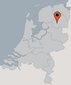 Karte von der Gruppenunterkunft 00310799 Gruppenhaus DRENTHE in Dänemark 7991 Dwingeloo für Kinderfreizeiten