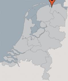 Karte von der Gruppenunterkunft 00310997 Gruppenhaus DE MARNE in Dänemark 9975  Vierhuizen für Kinderfreizeiten