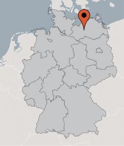 Karte von der Gruppenunterkunft 03493805 Gruppenhaus BORKOW in Dänemark 19406 Borkow für Kinderfreizeiten