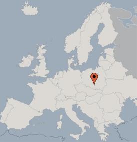 Karte von der Gruppenunterkunft 05485200 Gruppenunterkunft Auschwitz in Dänemark Pl-32600 Oswiecim-Auschwitz (Polen) für Kinderfreizeiten