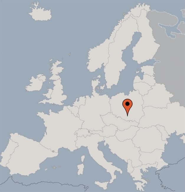 Auschwitz Karte.Gruppenunterkunft Auschwitz