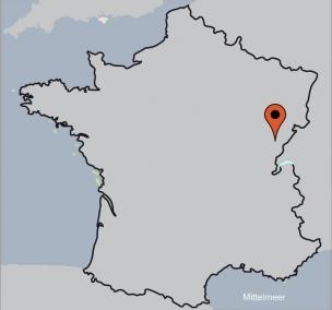 Karte von der Gruppenunterkunft 05335335 Gruppenhaus Ornans in Dänemark F-25290 Ornans für Kinderfreizeiten