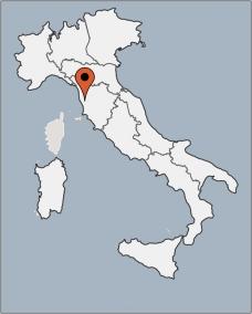 Karte von der Gruppenunterkunft 05395539 Gruppenhaus CASTELLINA in Dänemark I-56040 Castellina Marittima für Kinderfreizeiten
