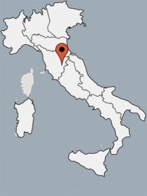 Karte von der Gruppenunterkunft 09399001 Gruppenhaus Casa Chiana in Dänemark I-52048 Monte San Savino (AR) für Kinderfreizeiten