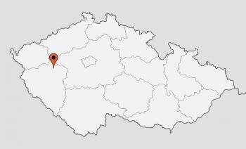 Karte von der Gruppenunterkunft 05425002 Gruppenhaus PILSEN-BÖHMEN in Dänemark 30100 Pilsen-Böhmen für Kinderfreizeiten