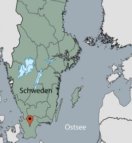 Karte von der Gruppenunterkunft 04464013 Gruppenhaus Backagarden in Dänemark 24395 Höör für Kinderfreizeiten
