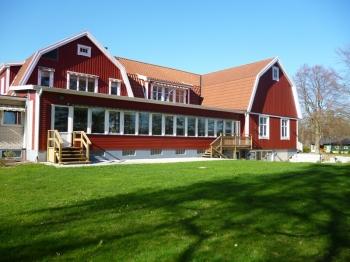 Aussenansicht vom Gruppenhaus 04464185 Gruppenhaus Strandhem in Schweden S-28635 Örkelljunga für Gruppenfreizeiten