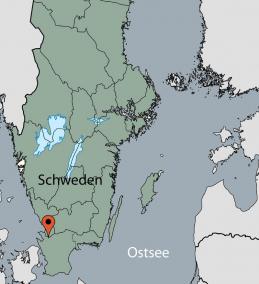 Karte vom Gruppenhaus 04464185 Gruppenhaus Strandhem in Schweden S-28635 Örkelljunga für Gruppenreisen