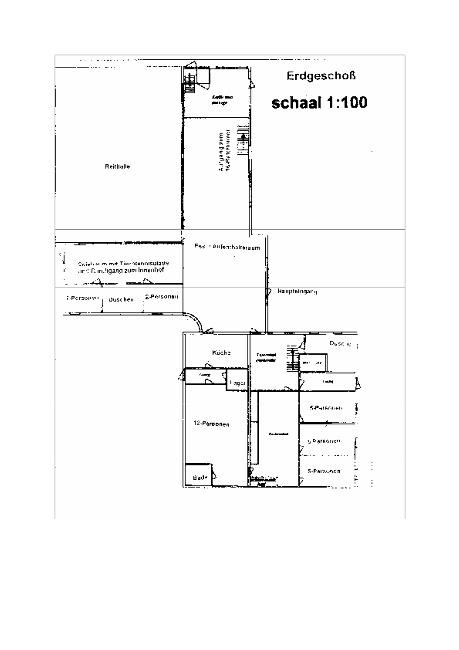 Grundrisse von der Gruppenunterkunft 00310698 Gruppenhaus ZWALM in Dänemark NL-6987 GIESBEEK für Jugendfreizeiten