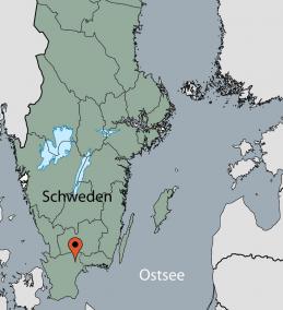 Karte von der Gruppenunterkunft 04464174 Gruppenhaus Immeln in Dänemark S-28073 Immeln für Kinderfreizeiten