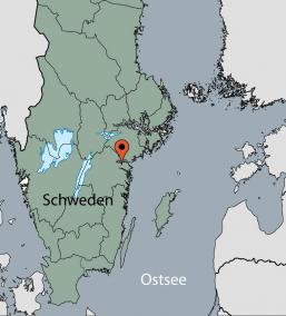 Karte vom Gruppenhaus 04464130 Gruppenhaus Stora Skogsgarden in Schweden S-61691 Aby-Norrköping für Gruppenreisen