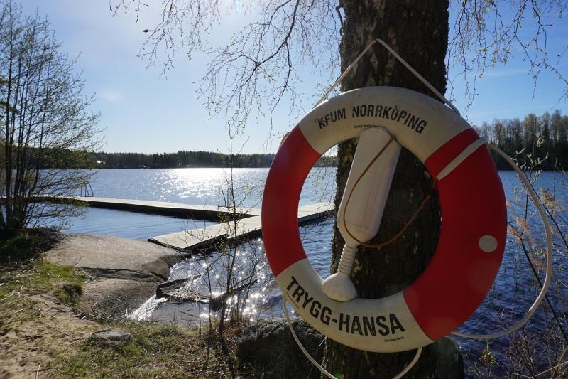 Bademöglichkeit von der Gruppenunterkunft 04464130 Gruppenhaus Stora Skogsgarden in Schweden S-61691 Aby-Norrköping für Jugendfreizeiten
