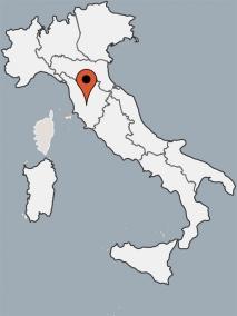 Karte von der Gruppenunterkunft 05395569 Gruppenhaus MONTICIANO in Dänemark 53015 Monticiano, Si für Kinderfreizeiten