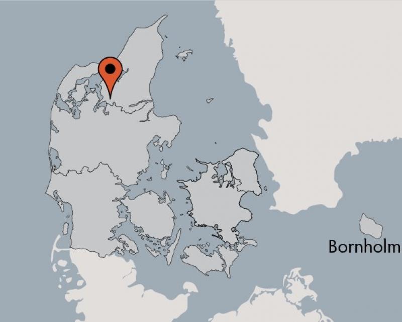 Karte von der Gruppenunterkunft 03453467 VESTERBØLLE Efterskole in Dänemark 9631 Gedsted für Kinderfreizeiten