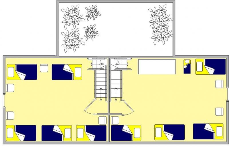 Grundrisse von der Gruppenunterkunft 00310580 GRUPPENHAUS BOERENHOEVE I in Dänemark 5813 Ysselstein für Jugendfreizeiten