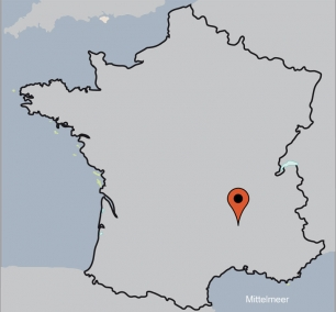 Karte von der Gruppenunterkunft 05335440 Jaujac in Dänemark 07380 Jaujac für Kinderfreizeiten