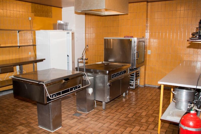 Küche von der Gruppenunterkunft 03453053 MELLERUP Centret in Dänemark 6534 Agerskov für Jugendfreizeiten