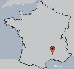 Karte von der Gruppenunterkunft 05335445 Gruppenhaus DUNIERE SUR EYRIEUX  in Dänemark 07360 Dunière-sur-Eyrieux für Kinderfreizeiten