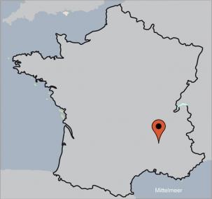 Karte von der Gruppenunterkunft 05335444 VILLENEUVE-DE-BERG  in Dänemark  VILLENEUVE-DE-BERG  für Kinderfreizeiten
