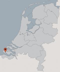 Karte von der Gruppenunterkunft 00310437 Gruppenhaus Zeemeeuw in Dänemark 4371 RC Koudekerke für Kinderfreizeiten