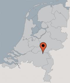 Karte von der Gruppenunterkunft 00315374 Gruppenhaus Moesbos IV in Dänemark 5374 SC Schaijk für Kinderfreizeiten