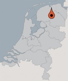 Karte von der Gruppenunterkunft 03103350 Segelschiff ANNA CATHARINA in Dänemark 9974 Zoutkamp für Kinderfreizeiten