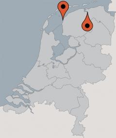 Karte von der Gruppenunterkunft 03103369 Plattbodensegelschiff VRIENDSCHAP in Dänemark 8861 Harlingen für Kinderfreizeiten