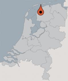 Karte von der Gruppenunterkunft 08318001 Vacantiehus Hollum in Dänemark 9161 Hollum für Kinderfreizeiten