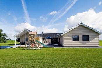 Aussenansicht vom Gruppenhaus 03453851 Gruppenhaus MØLLEBAKKEN in Dänemark 6470 Sydals für Gruppenfreizeiten