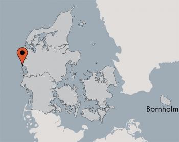 Karte von der Gruppenunterkunft 03453853 Gruppenhaus HUS VESTKLIT in Dänemark 6950 Ringkoebing für Kinderfreizeiten