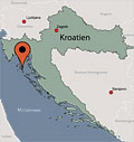 Karte von der Gruppenunterkunft 00380105 ZEBU<sup>®</sup>-Dorf MALI LOSINJ - XXL - KROATIEN in Dänemark 51550 Mali Losinj für Kinderfreizeiten