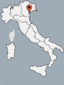 Karte von der Gruppenunterkunft 00390905 ZEBU<sup>®</sup>-Dorf Rosolina Mare-Venedig -XXL- in Dänemark 45010 Marina di Caleri für Kinderfreizeiten