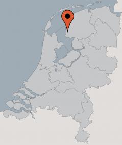 Karte von der Gruppenunterkunft 03313887 Gruppenhaus NIJJHUIZUM in Dänemark 8775 Nijhuizum für Kinderfreizeiten