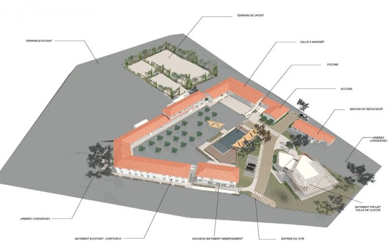 Grundrisse von der Gruppenunterkunft 05335858 NARBONNE - DEPARTEMENT AUDE in Dänemark 11100 Narbonne-Plage für Jugendfreizeiten