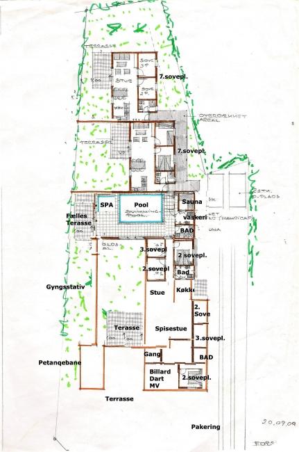 Grundrisse von der Gruppenunterkunft 03453479 Gruppenhaus BLOKHUSCENTER in Dänemark 9492 Blokhus für Jugendfreizeiten
