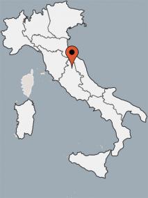 Karte vom Gruppenhaus 05395445 Castello Pianello in Italien 06135 Pianello für Gruppenreisen