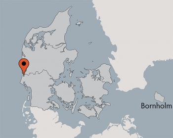 Karte vom Gruppenhaus 03453855 Aktivhus Houstrup in Dänemark 6830 Nørre Nebel Sogn, für Gruppenreisen