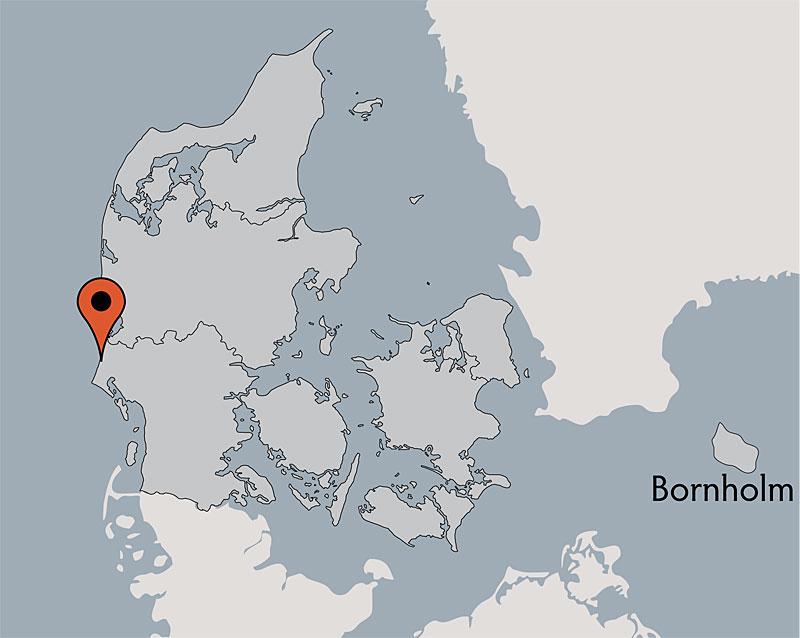 Karte von der Gruppenunterkunft 03453856 Hus Henne in Dänemark 6854 Henne für Kinderfreizeiten