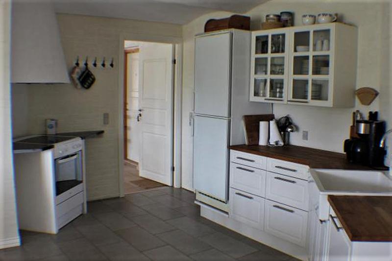 Küche von der Gruppenunterkunft 03453857 Hus Fidde in Dänemark 6854 Henne für Jugendfreizeiten