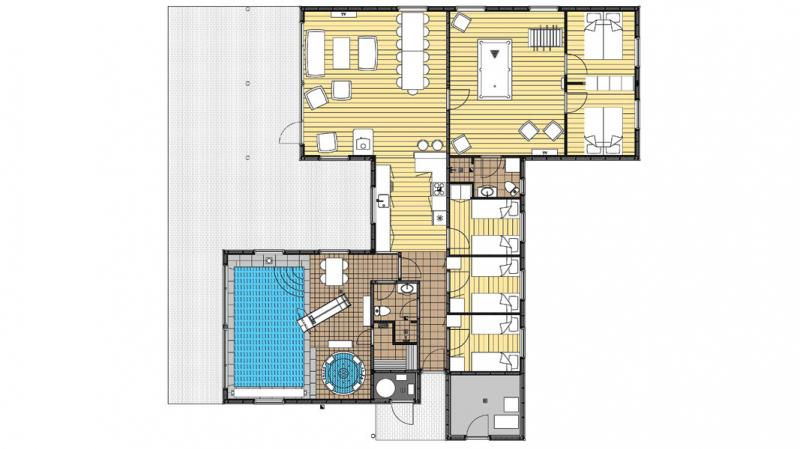 Grundrisse von der Gruppenunterkunft 03453861 Vestermosen Hus in Dänemark 5400 Bogense Sogn für Jugendfreizeiten