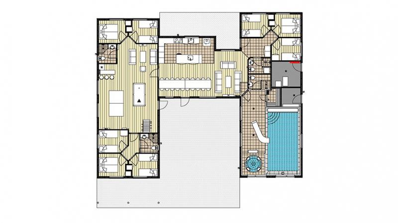 Grundrisse von der Gruppenunterkunft 03453866 Tandsholm Aktivhus in Dänemark 6470 Sydals Kommune für Jugendfreizeiten