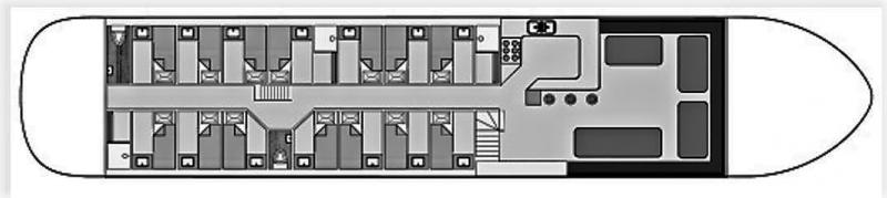 Grundrisse von der Gruppenunterkunft 03103154 Traditionelles Segelschiff MARGOT in Dänemark 8861 Harlingen für Jugendfreizeiten