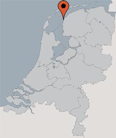 Karte von der Gruppenunterkunft 03103155 Plattbodenschiff VLIEGENDE DRAECK in Dänemark 8861 Harlingen für Kinderfreizeiten